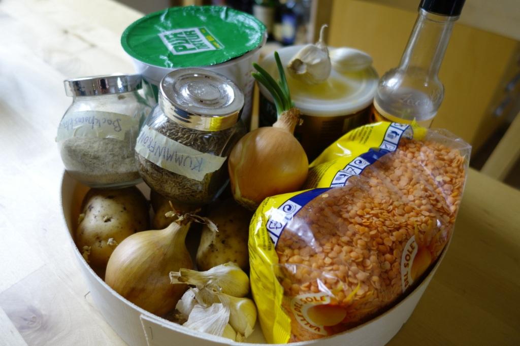 Daal ingredients